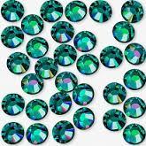 1-21 Камни Swarovski SS3 , Emerald, 100 шт